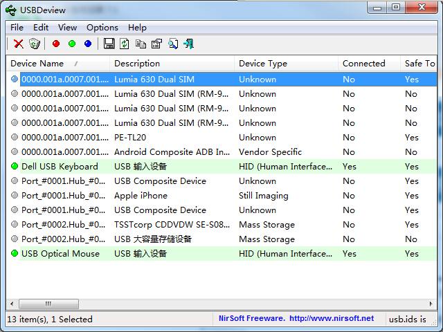 USBDeview x32截图1